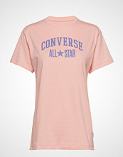 Converse All Star Relaxed Tee T-shirts & Tops Short-sleeved Rosa CONVERSE