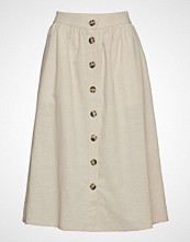 Soft Rebels Nala Skirt Knelangt Skjørt Creme SOFT REBELS