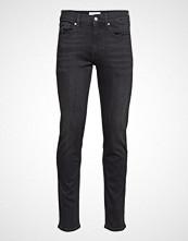 Calvin Klein Slim Stretch Denim M Slim Jeans Svart CALVIN KLEIN