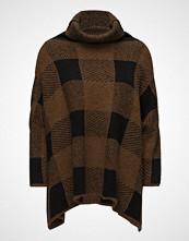 Rabens Saloner Blurred Check Tunic Sweater Høyhalset Pologenser Brun RABENS SAL R