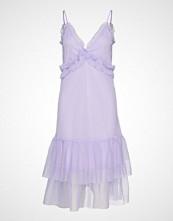 Ivyrevel Shoulder Strap Frill Dress Knelang Kjole Lilla IVYREVEL