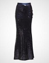 Gant G1. Full Length Sequin Skirt Langt Skjørt Blå GANT