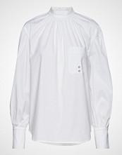 Calvin Klein Pkt Detail Blouse Ls Langermet Skjorte Hvit CALVIN KLEIN