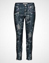 Mos Mosh Naomi Glam Flower 7/8 Bukser Med Rette Ben Blå MOS MOSH