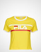 FILA Ashley Chropped Tee T-shirts & Tops Short-sleeved Gul FILA