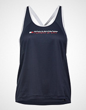Tommy Sport Flag Tape Tank Top T-shirts & Tops Sleeveless Blå TOMMY SPORT