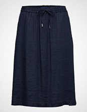 Gant O2. Summer Linen A-Line Skirt Knelangt Skjørt Blå GANT