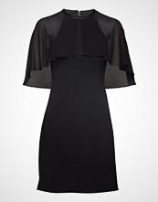 Karl Lagerfeld Dress W/ Cape Overlay Kort Kjole Svart KARL LAGERFELD