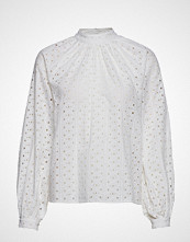 Gina Tricot Eve Blouse Bluse Langermet Hvit GINA TRICOT