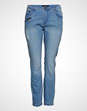 Zizzi Jeans, Long, Amy, Super Slim Slim Jeans Blå ZIZZI