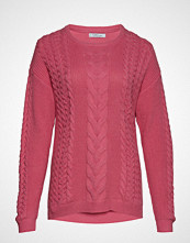 Violeta by Mango Contrasting Knit Sweater Strikket Genser Rosa VIOLETA BY MANGO