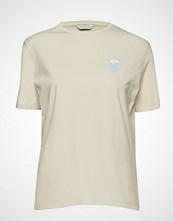 Holzweiler Elind Print Polar Tee T-shirts & Tops Short-sleeved Creme HOLZWEILER