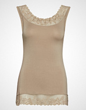 Cream Florence Top T-shirts & Tops Sleeveless Beige Cream