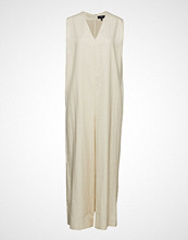 Theory Straight Romper.Luxe Maxikjole Festkjole Creme THEORY