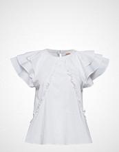 Custommade Othilia Solid Bluse Kortermet Hvit CUSTOMMADE
