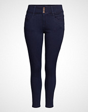 Only Carmakoma Caranna Hw Sk Ank Jeans Dark Blue Noos Skinny Jeans Blå ONLY CARMAKOMA