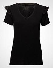 Scotch & Soda Feminine S/S Tee T-shirts & Tops Short-sleeved Svart SCOTCH & SODA