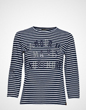 Superdry Jessa Graphic Top T-shirts & Tops Long-sleeved Blå SUPERDRY