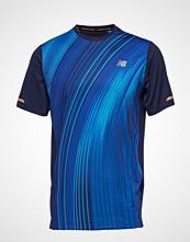 New Balance Printed Nb Ice 2e Short Sleeve T-shirts & Tops Short-sleeved Blå NEW BALANCE