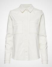 Tomorrow Bowie Ecru Shirt Langermet Skjorte Hvit TOMORROW