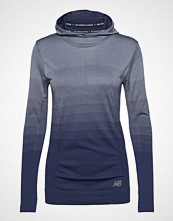 New Balance Merino Ombre Hdie T-shirts & Tops Long-sleeved Blå NEW BALANCE