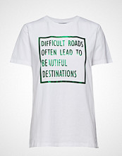 B.Young Pandina Foil Tshirt - T-shirts & Tops Short-sleeved Hvit B.YOUNG