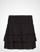 Mayla Stockholm Ruby Embroidery Mini Skirt Kort Skjørt Svart MAYLA STOCKHOLM