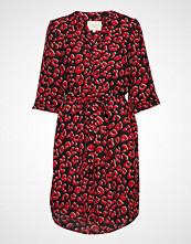 Lollys Laundry Jade Dress Knelang Kjole Rød LOLLYS LAUNDRY
