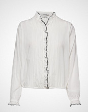 Scotch & Soda Drapy Feminine Shirt Langermet Skjorte Hvit SCOTCH & SODA