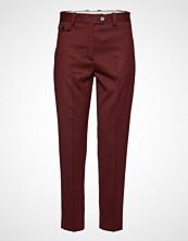 Calvin Klein Wool Twill Detail Ci Bukser Med Rette Ben Rød CALVIN KLEIN