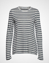 T by Alexander Wang New Striped Slub - Ls Top T-shirts & Tops Long-sleeved Grå T BY ALEXANDER WANG