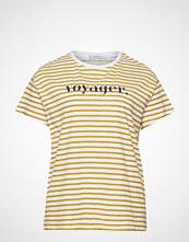 Violeta by Mango Striped Cotton T-Shirt T-shirts & Tops Short-sleeved Gul VIOLETA BY MANGO