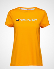 Tommy Sport Tee Chest Logo T-shirts & Tops Short-sleeved Gul TOMMY SPORT