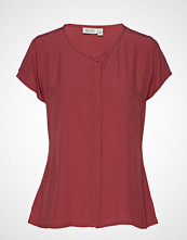 Masai Ia Blouse T-shirts & Tops Short-sleeved Rød MASAI