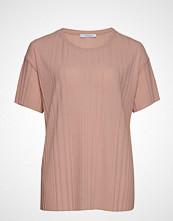 Violeta by Mango Ribbed T-Shirt T-shirts & Tops Short-sleeved Rosa VIOLETA BY MANGO
