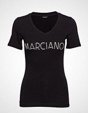 Marciano by GUESS Logo Patch Crystal Tee T-shirts & Tops Short-sleeved Svart MARCIANO BY GUESS