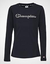 Cènnìs Long Sleeve Crewneck T-Shirt T-shirts & Tops Long-sleeved Svart CHAMPION