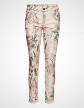 Mos Mosh Naomi Shine Flower Pant Stramme Bukser Stoffbukser Multi/mønstret MOS MOSH
