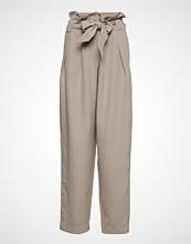 Designers Remix Veronique Pleat Pants Bukser Med Rette Ben Beige DESIGNERS REMIX