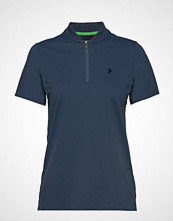 Peak Performance W Sun Polo T-shirts & Tops Short-sleeved Blå PEAK PERFORMANCE