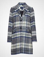 Gant O1. Padded Wool Overcoat Ullfrakk Frakk Blå GANT