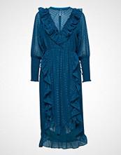 Lollys Laundry Adriana Dress Knelang Kjole Blå LOLLYS LAUNDRY