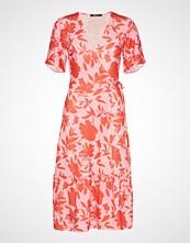 Gina Tricot Vicky Wrap Dress Knelang Kjole Multi/mønstret GINA TRICOT