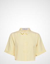 Ivyrevel Cropped Boxy Shirt Bluse Kortermet Gul IVYREVEL