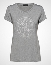 GUESS Jeans Ss Vn Glitter Stamp Tee T-shirts & Tops Short-sleeved Grå GUESS JEANS