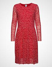 Saint Tropez Leaf P Dress Mesh Knelang Kjole Rød SAINT TROPEZ