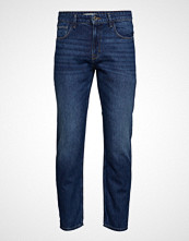 Mango Man Tapered Fit Dark Wash Soft Jeans Slim Jeans Blå MANGO MAN