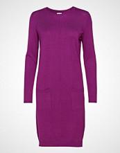 Saint Tropez Knit Dress With Pockets Strikket Kjole Lilla SAINT TROPEZ