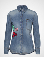 Calvin Klein 1 Pkt Utility Shirt Langermet Skjorte Blå CALVIN KLEIN JEANS