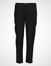 Scotch & Soda Tailored Stretch Pants With Contrast Side Panel Bukser Med Rette Ben Svart SCOTCH & SODA